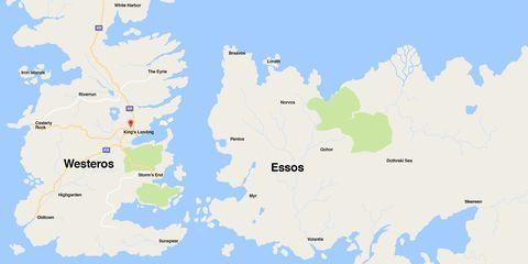 ゲームオブスローンズ 地図
