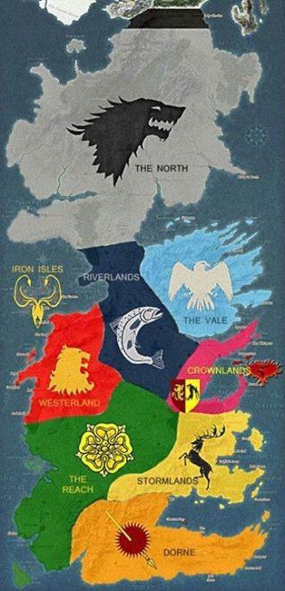ゲーム・オブ・スローンズ 七王国 地図